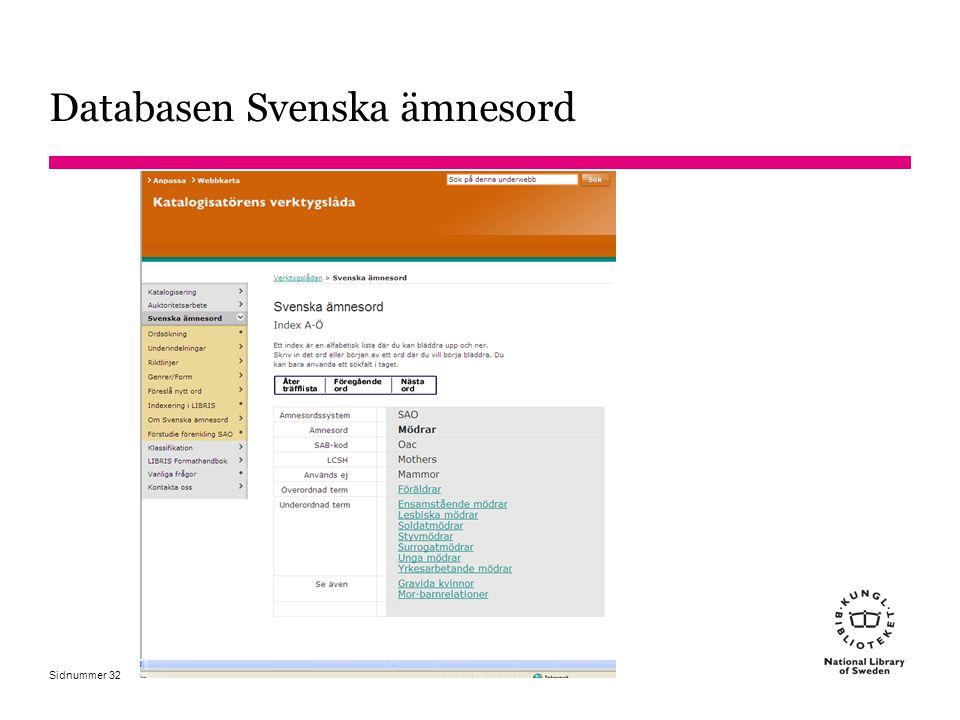 Databasen Svenska ämnesord