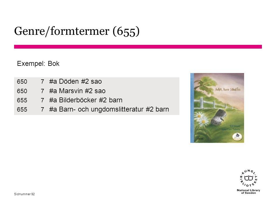Genre/formtermer (655) #a Döden #2 sao #a Marsvin #2 sao