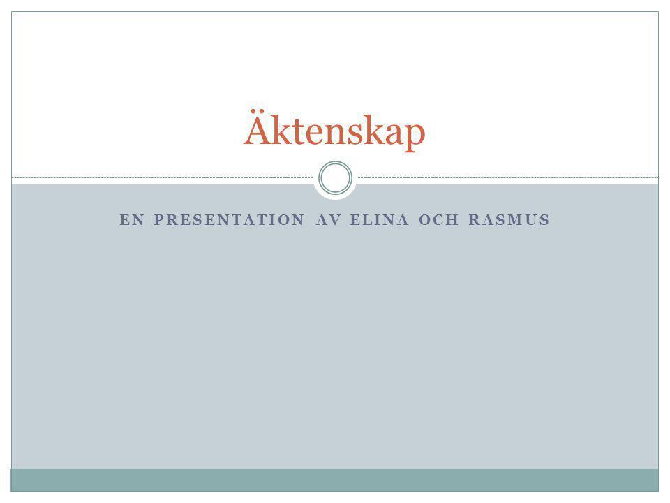 En presentation av Elina och Rasmus