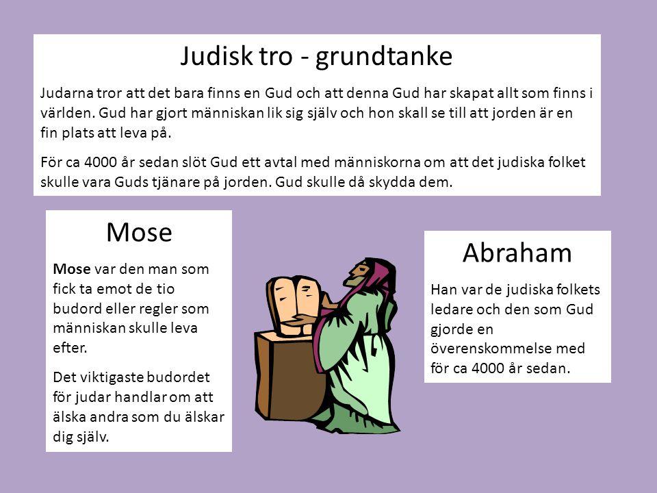 Judisk tro - grundtanke