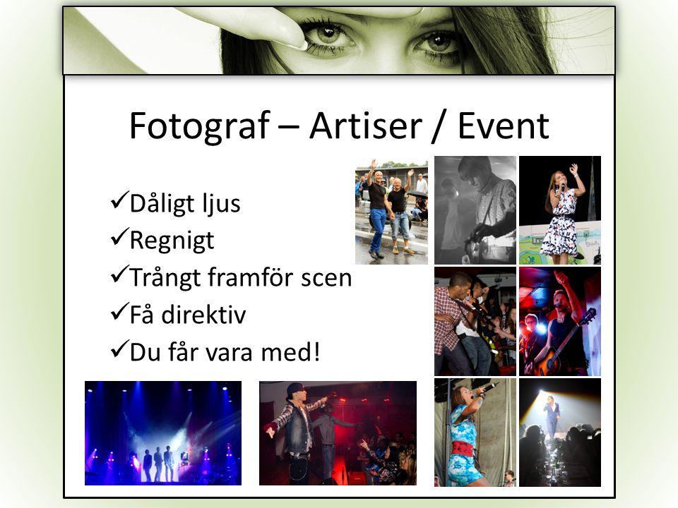 Fotograf – Artiser / Event