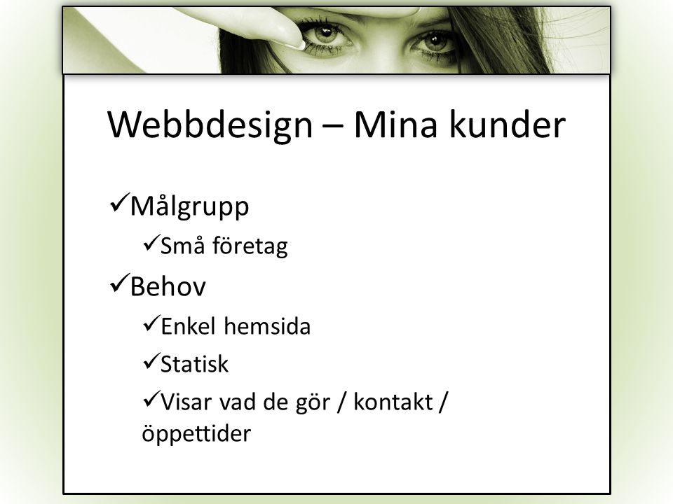 Webbdesign – Mina kunder