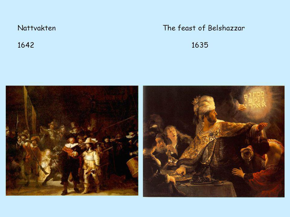 Nattvakten The feast of Belshazzar 1642 1635