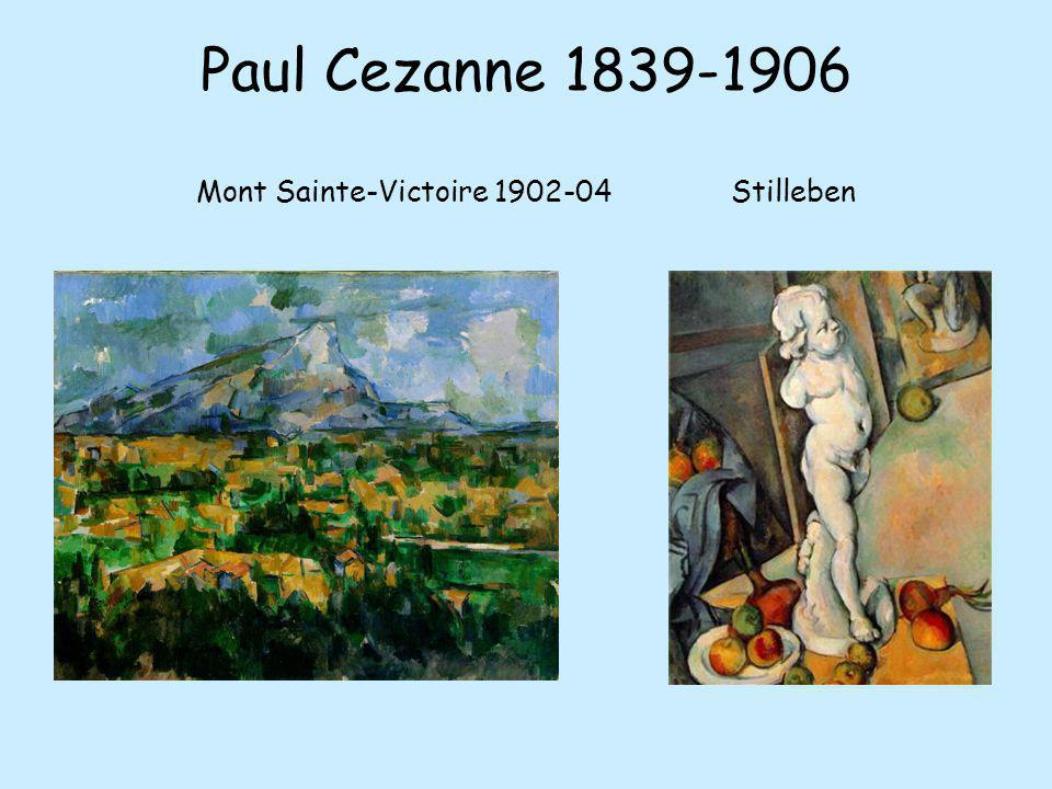 Paul Cezanne 1839-1906 Mont Sainte-Victoire 1902-04 Stilleben