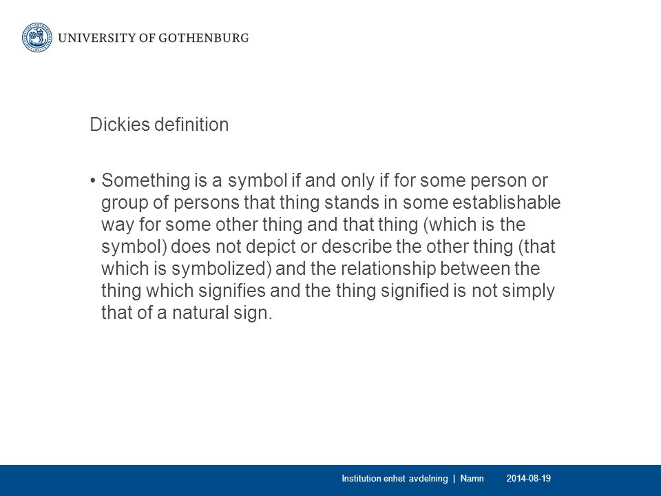 Dickies definition