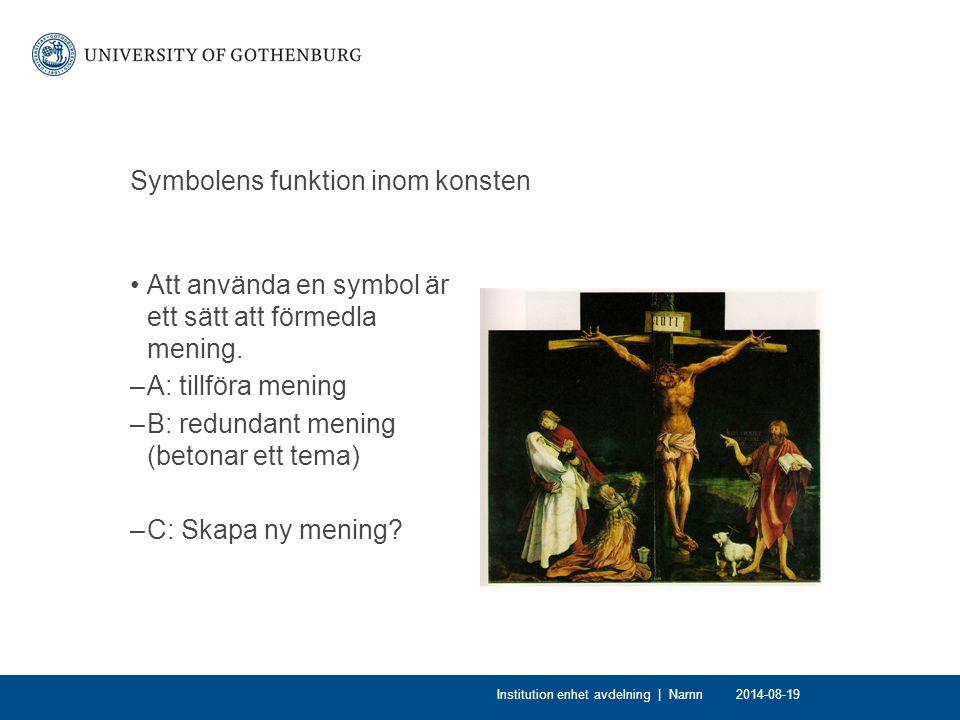 Symbolens funktion inom konsten