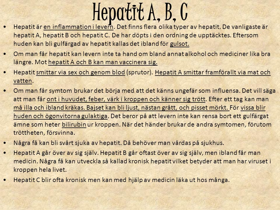 Hepatit A, B, C