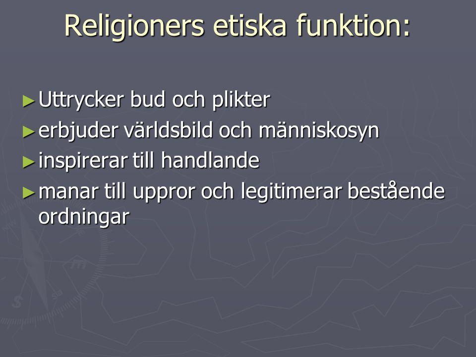 Religioners etiska funktion: