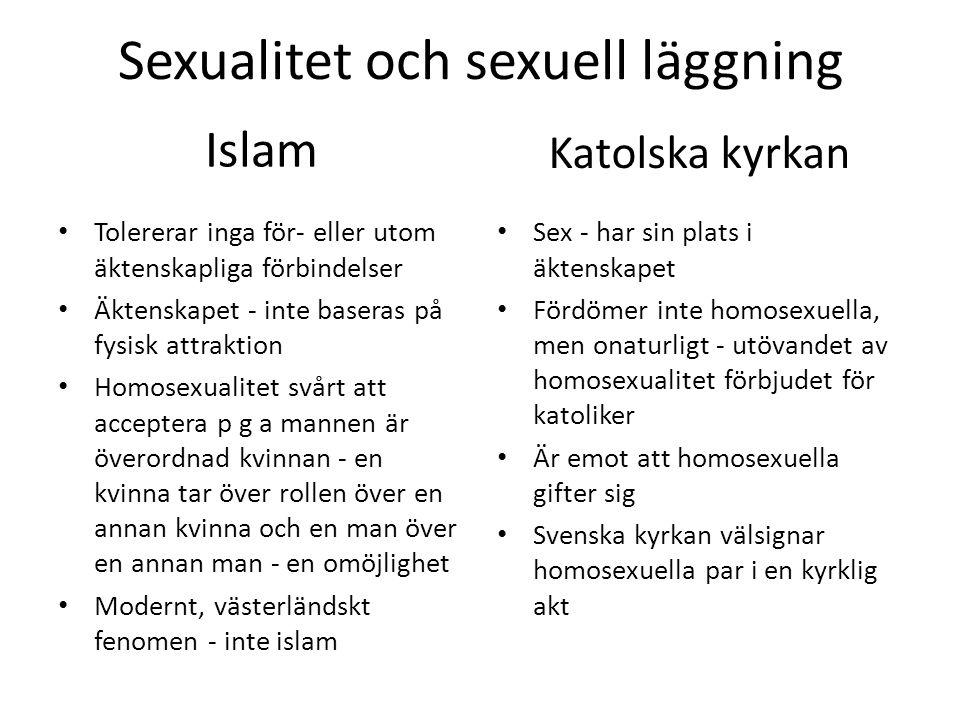 Sexualitet och sexuell läggning