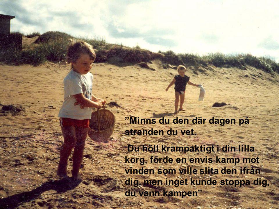 Minns du den där dagen på stranden du vet.