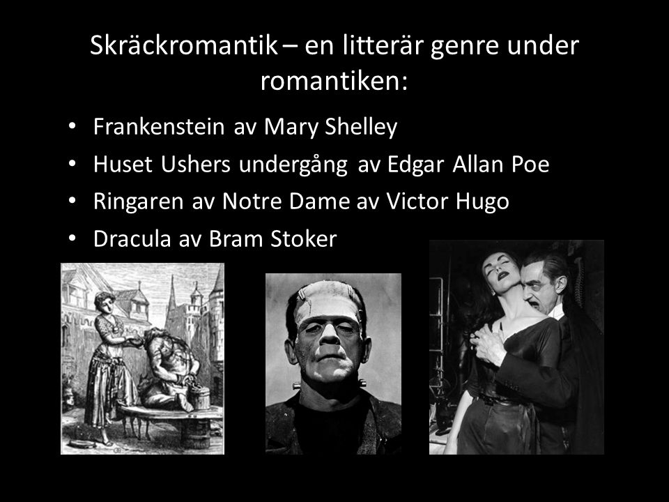 Skräckromantik – en litterär genre under romantiken: