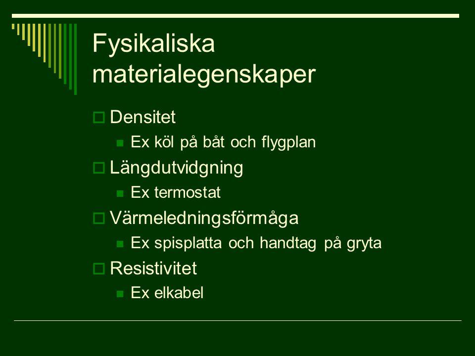 Fysikaliska materialegenskaper