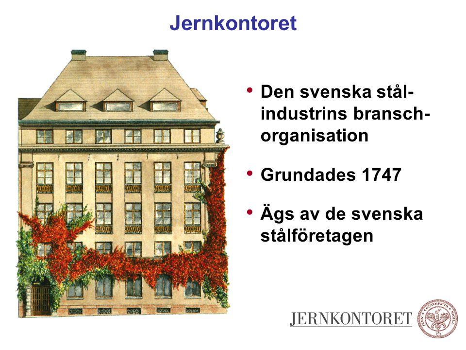 Jernkontoret Den svenska stål- industrins bransch- organisation