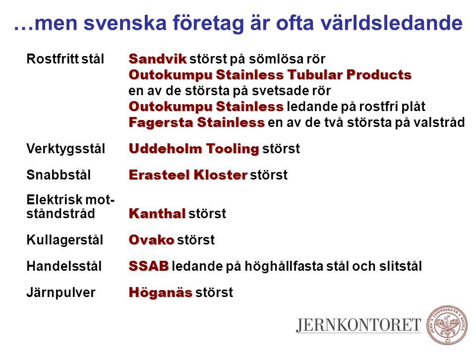 …men svenska företag är ofta världsledande