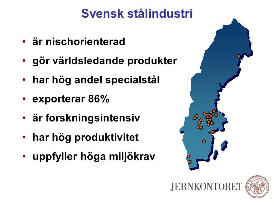 Svensk stålindustri är nischorienterad gör världsledande produkter