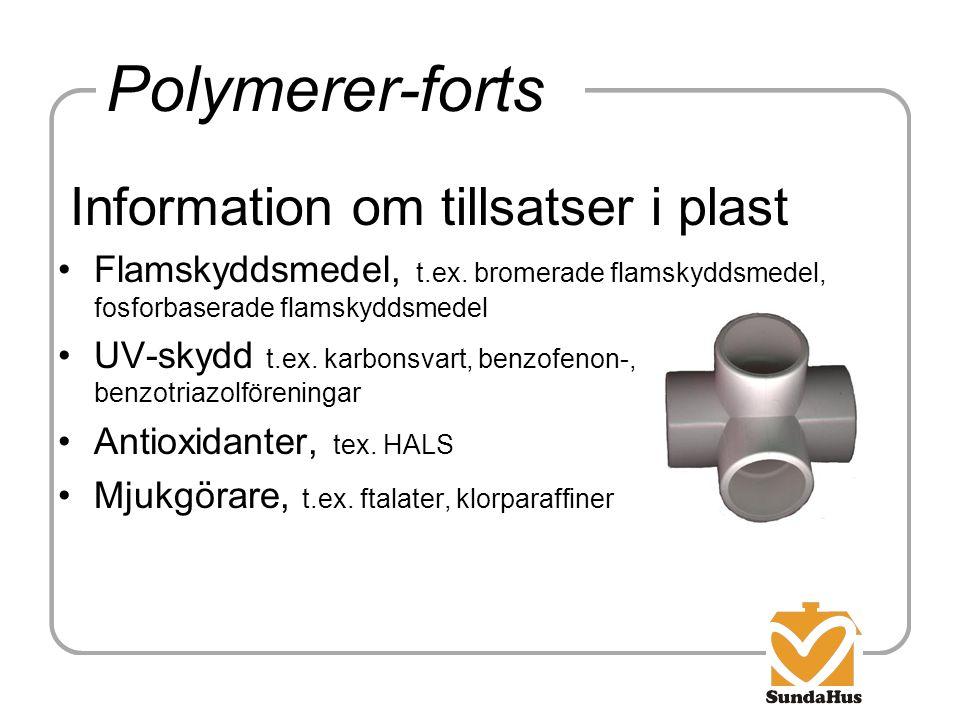 Polymerer-forts Information om tillsatser i plast