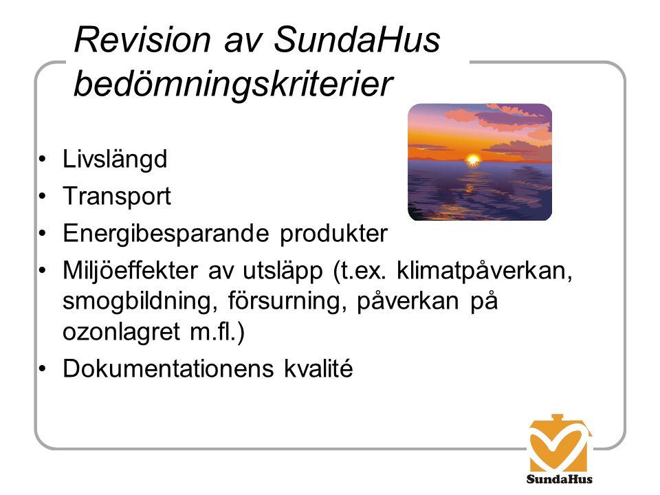 Revision av SundaHus bedömningskriterier