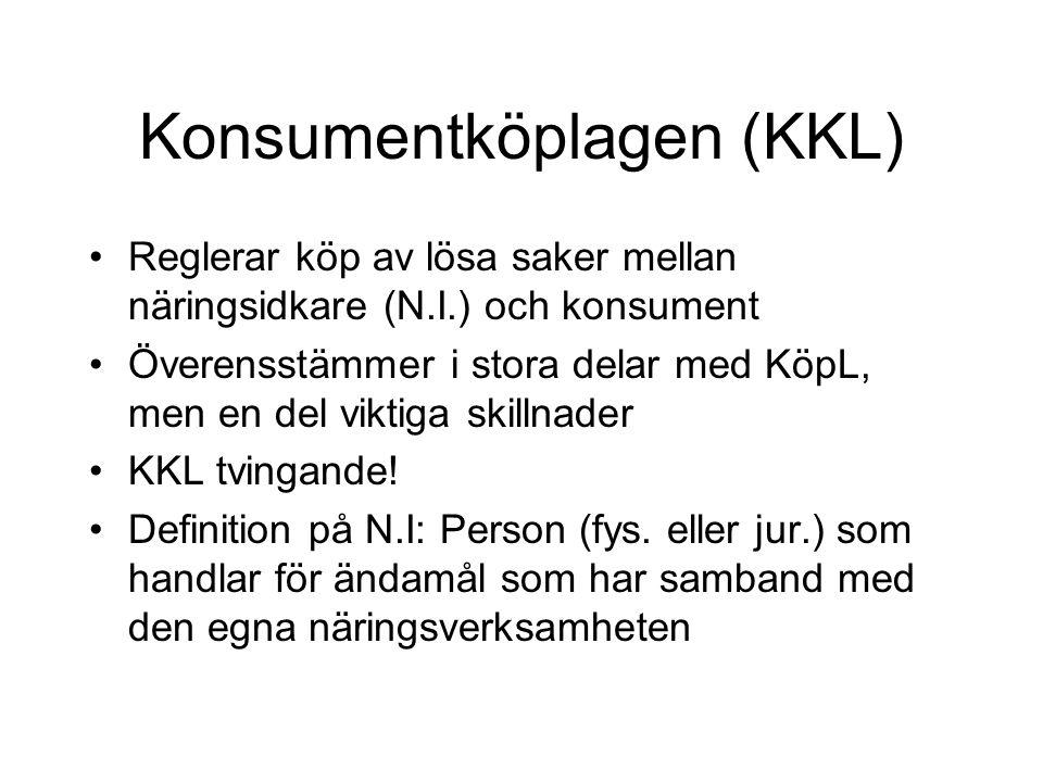 Konsumentköplagen (KKL)