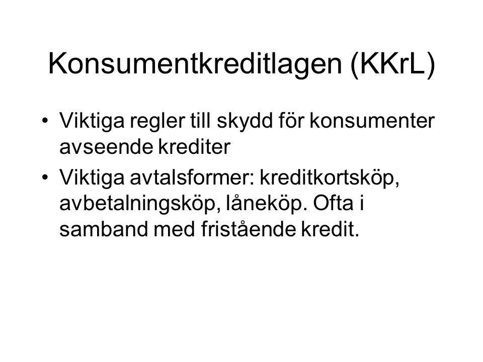 Konsumentkreditlagen (KKrL)