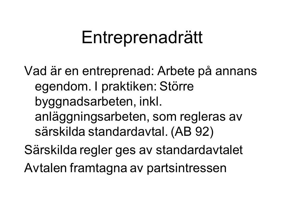 Entreprenadrätt