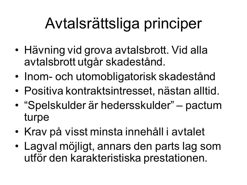 Avtalsrättsliga principer
