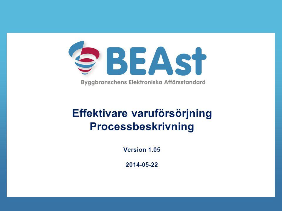 Effektivare varuförsörjning Processbeskrivning Version 1.05 2014-05-22