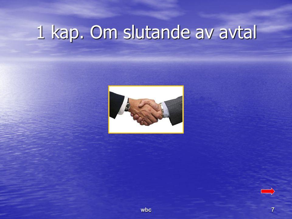 1 kap. Om slutande av avtal