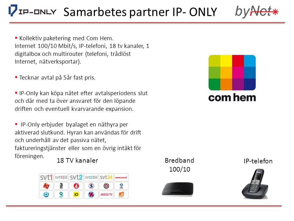 Samarbetes partner IP- ONLY