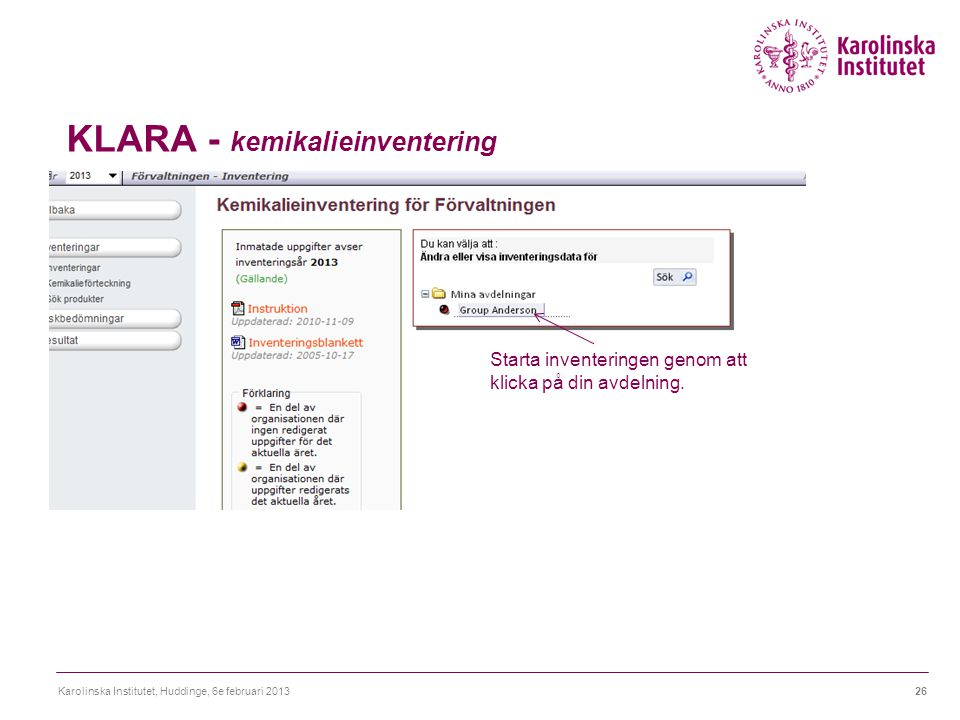 KLARA - kemikalieinventering