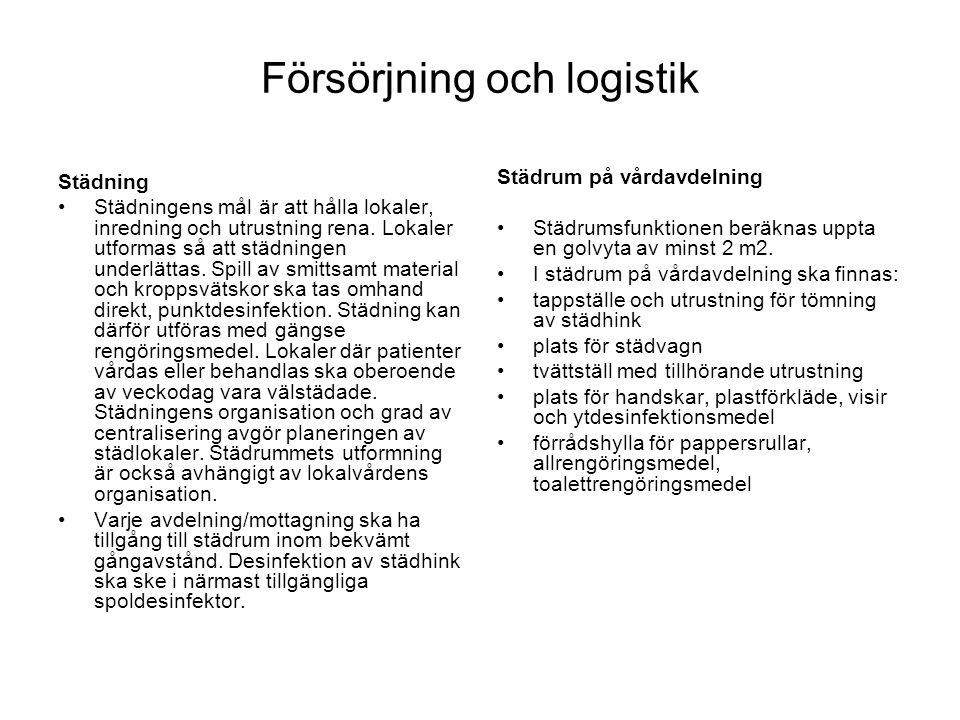Försörjning och logistik