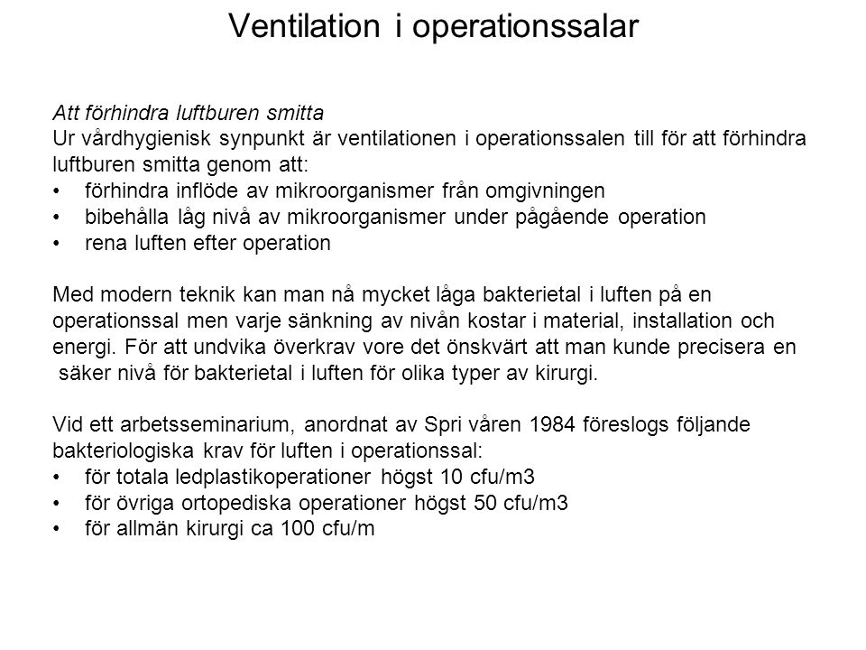 Ventilation i operationssalar