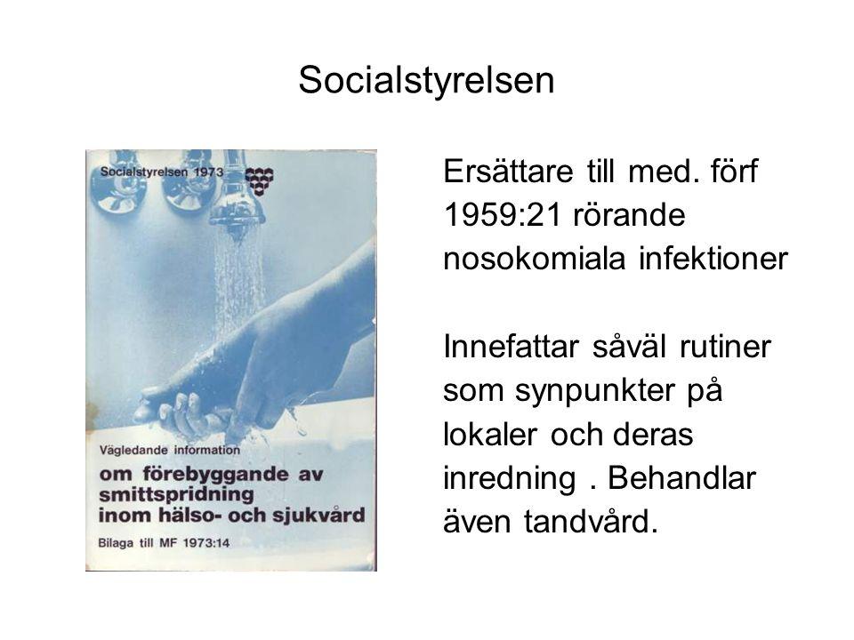 Socialstyrelsen Ersättare till med. förf 1959:21 rörande