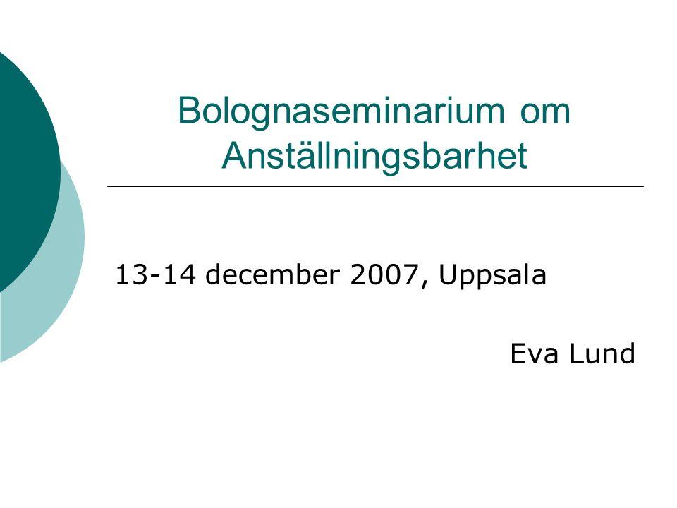 Bolognaseminarium om Anställningsbarhet