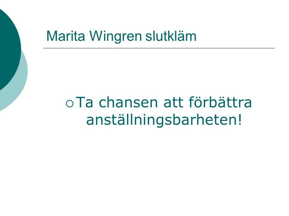 Marita Wingren slutkläm