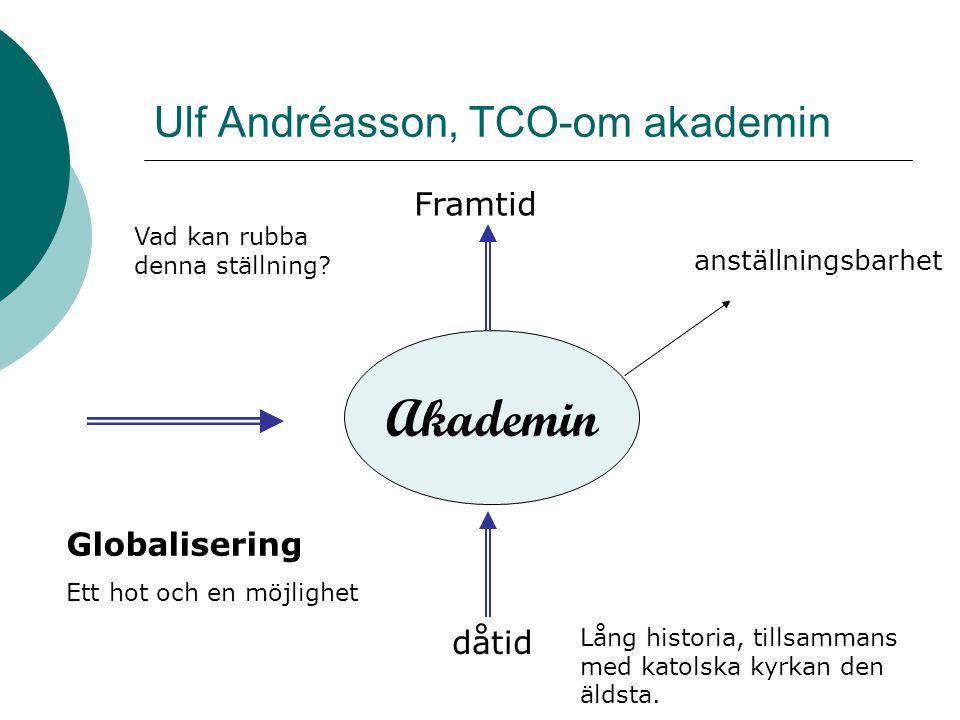 Ulf Andréasson, TCO-om akademin