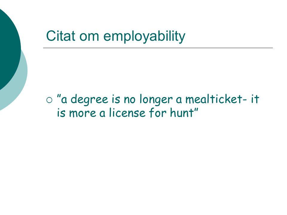 Citat om employability