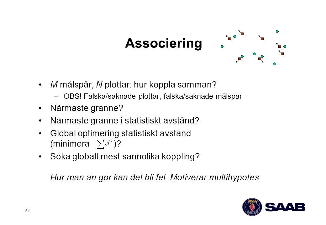 Associering M målspår, N plottar: hur koppla samman Närmaste granne