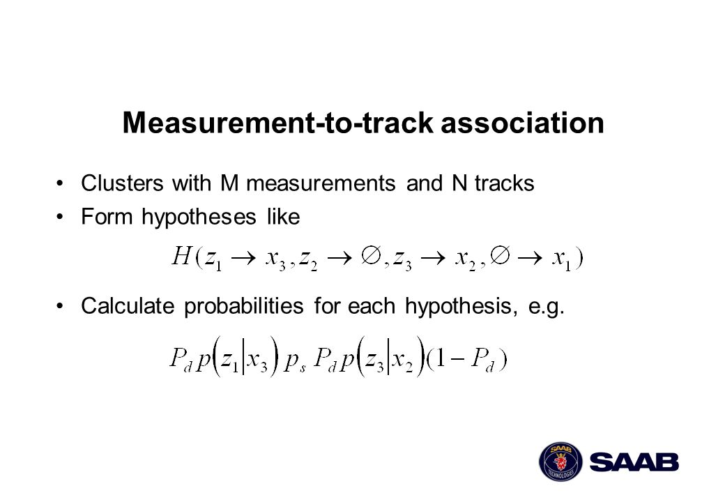 Measurement-to-track association