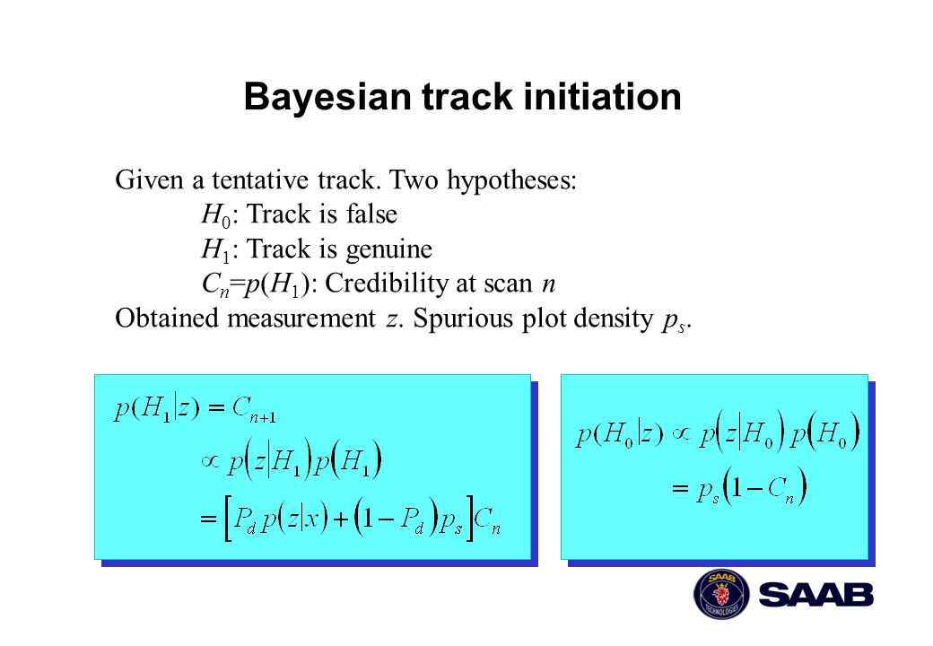 Bayesian track initiation