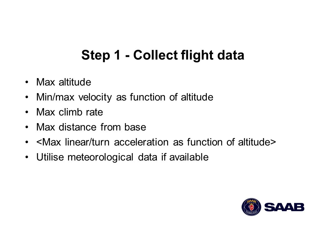 Step 1 - Collect flight data