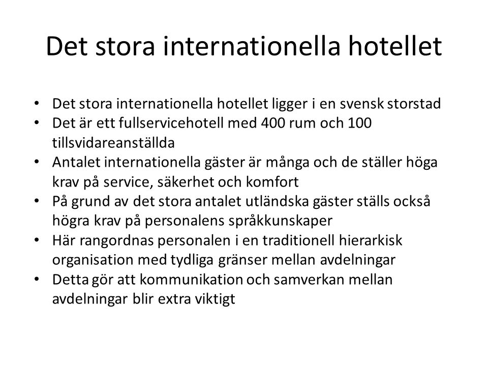 Det stora internationella hotellet