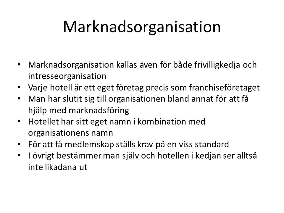 Marknadsorganisation