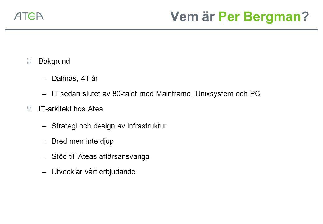 Vem är Per Bergman Bakgrund Dalmas, 41 år