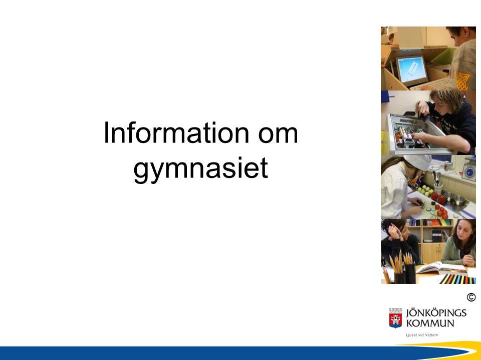 Information om gymnasiet