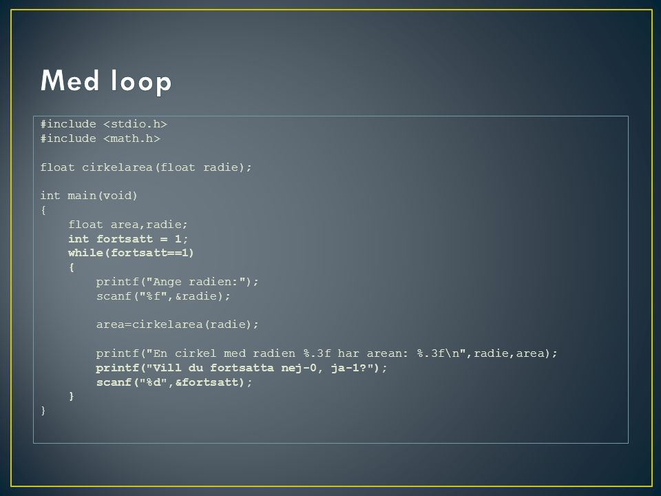 Med loop