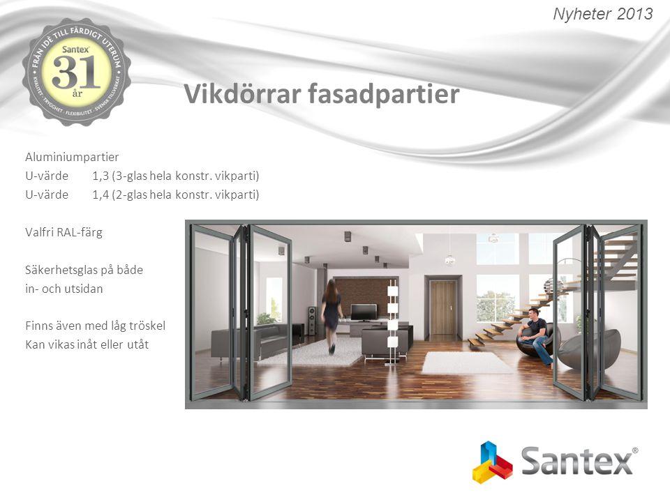 Vikdörrar fasadpartier