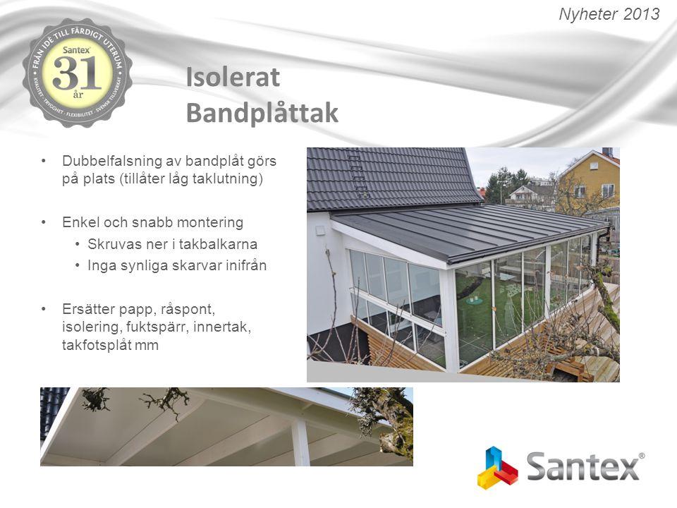 Isolerat Bandplåttak Nyheter 2013