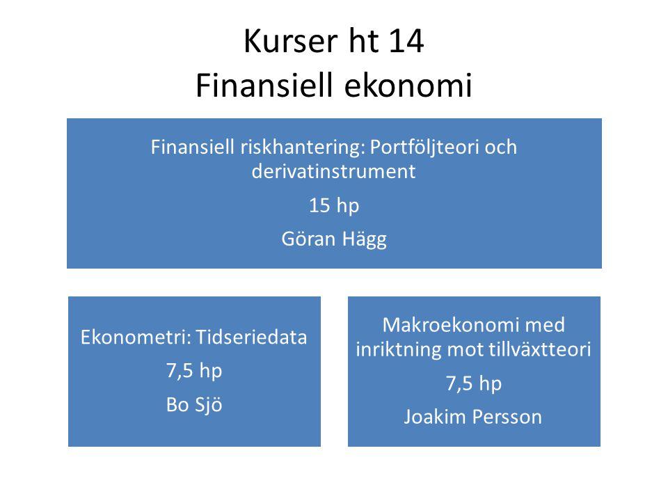Kurser ht 14 Finansiell ekonomi