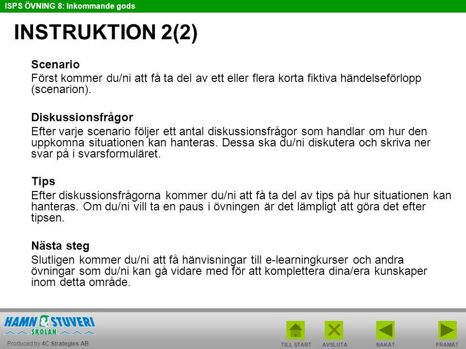 INSTRUKTION 2(2) Scenario