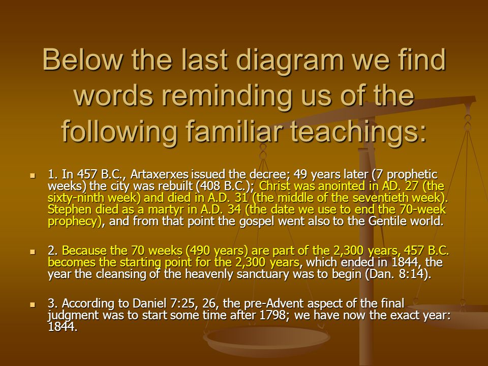 Below the last diagram we find words reminding us of the following familiar teachings: